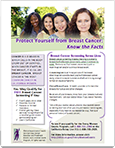 Know The Facts: BreastCancer fact sheet