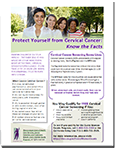Know The Facts: Cervical Cancer fact sheet